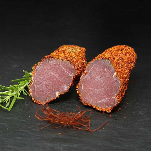 geräuchertes Schweinefilet mit Chilimantel
